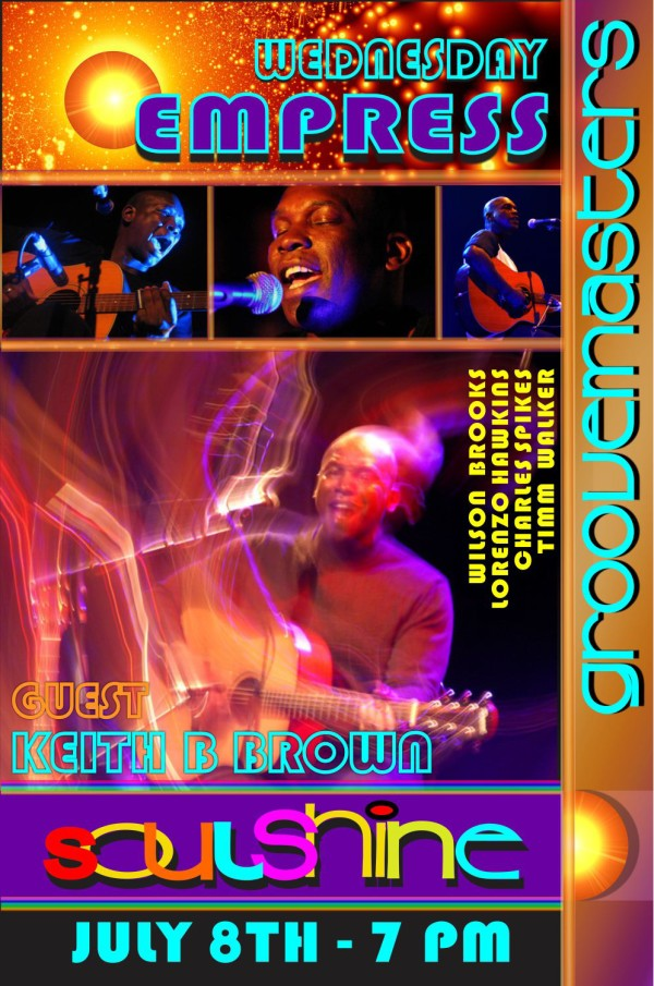 Soulshine with Keith B Brown – Free Admission