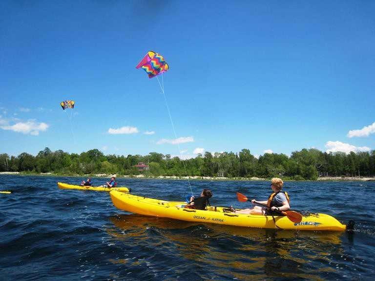 kite kayaking