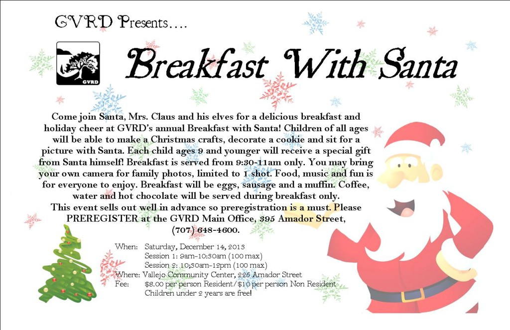 GVRD breakfast with Santa