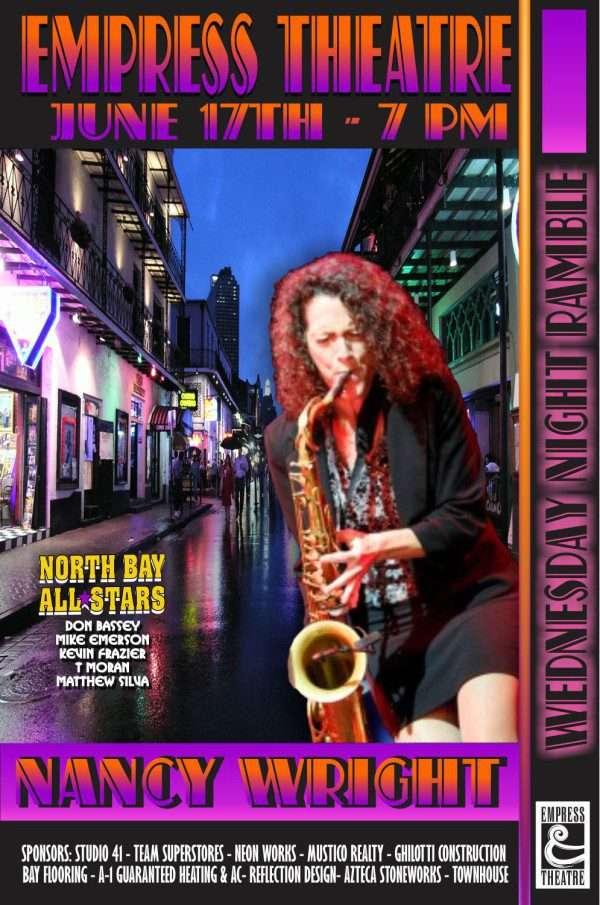 Nancy Wright plays Sax