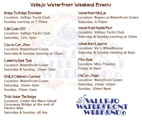 waterfront wekend schedule