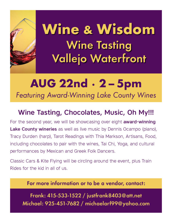 Wine & Wisdom / Wine Tasting on Vallejo Waterfront