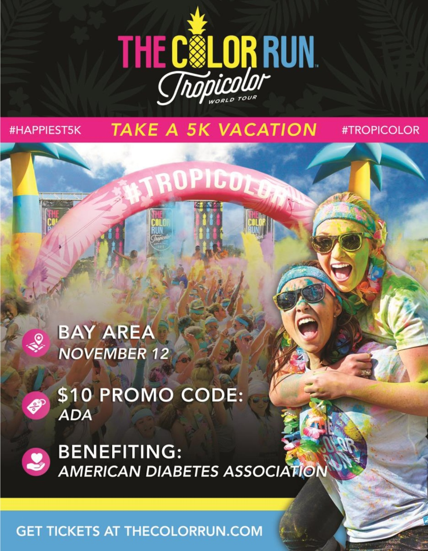 Also known as the Happiest 5k on the Planet, The Color Run is a unique paint race that celebrates healthiness, happiness, individuality, and giving back to the community.