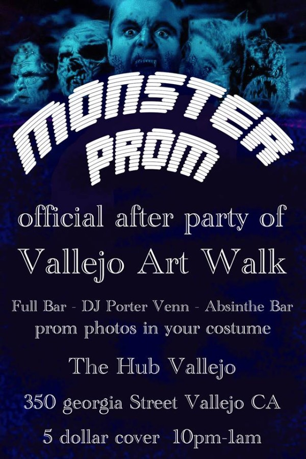 monster prom artwalk afterparty vallejo arts entertainment