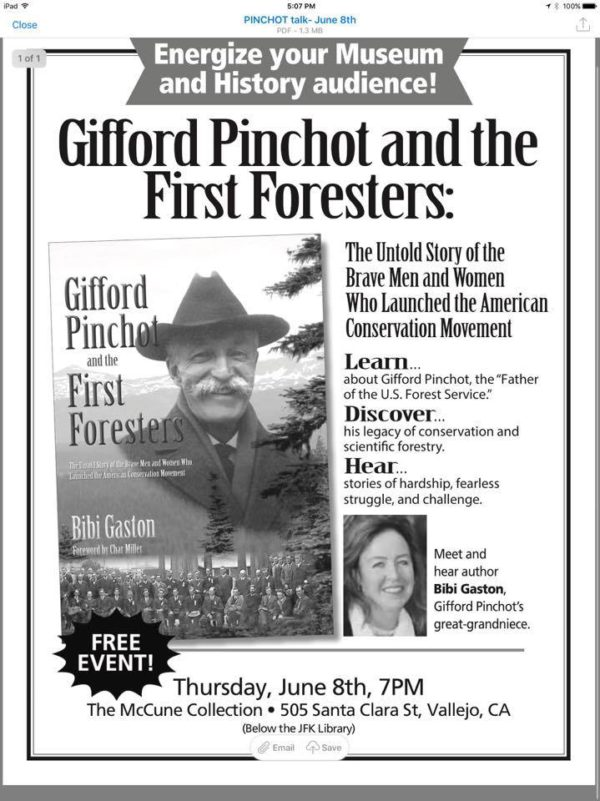 Gifford Pinchot and the First Foresters - Vallejo Arts   Entertainment f2eb43145