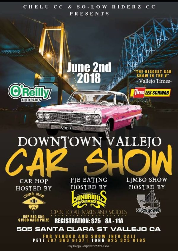 DownTown Vallejo Car Show Hop And Limbo Vallejo Arts Entertainment - Santa clara car show
